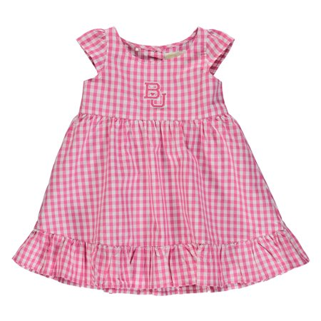 Baylor Bears Garb Girls Toddler Gigi Gingham Check Dress - Pink