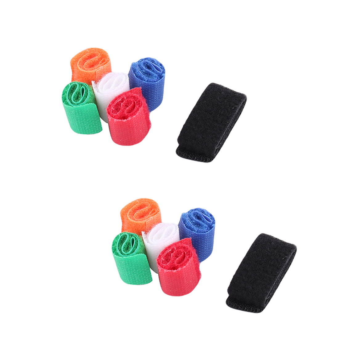 Unique Bargains Home Nylon Self-adhesive Management Strap Ties Fastener Hook Loop Tape 12 Pcs