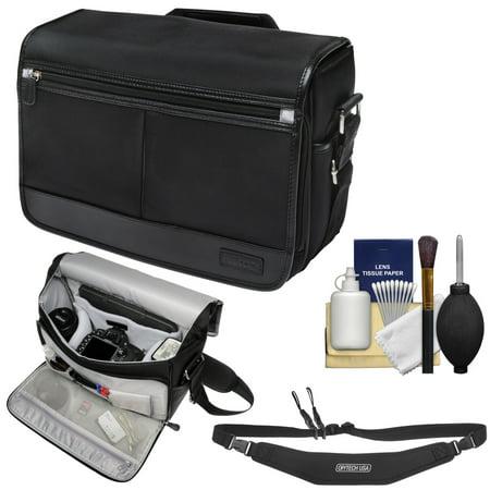 Nikon DSLR Camera/Tablet Messenger Shoulder Bag with Sling Strap + Kit for D4s, Df, D810, D750, D610, D7200, D7100, D5500, D5300, D3300, D3200