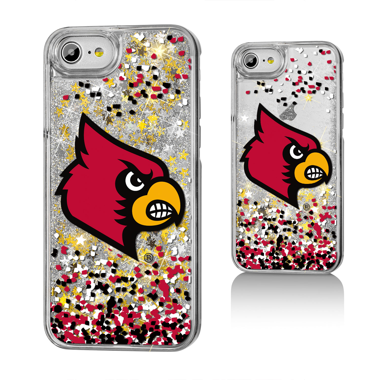 UL Louisville Cardinals Confetti Glitter Case for iPhone 8 / 7 / 6