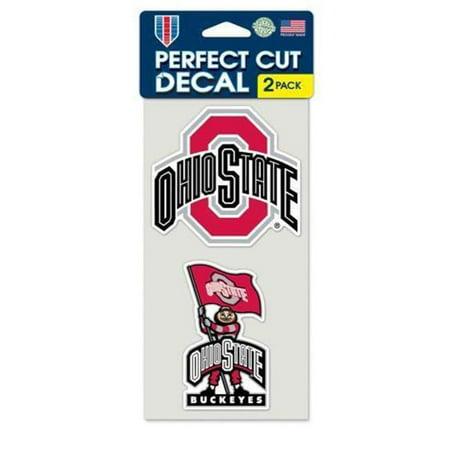 Ohio State Buckeyes Set de 2 d-calques d-coup-s - la forme - image 1 de 1