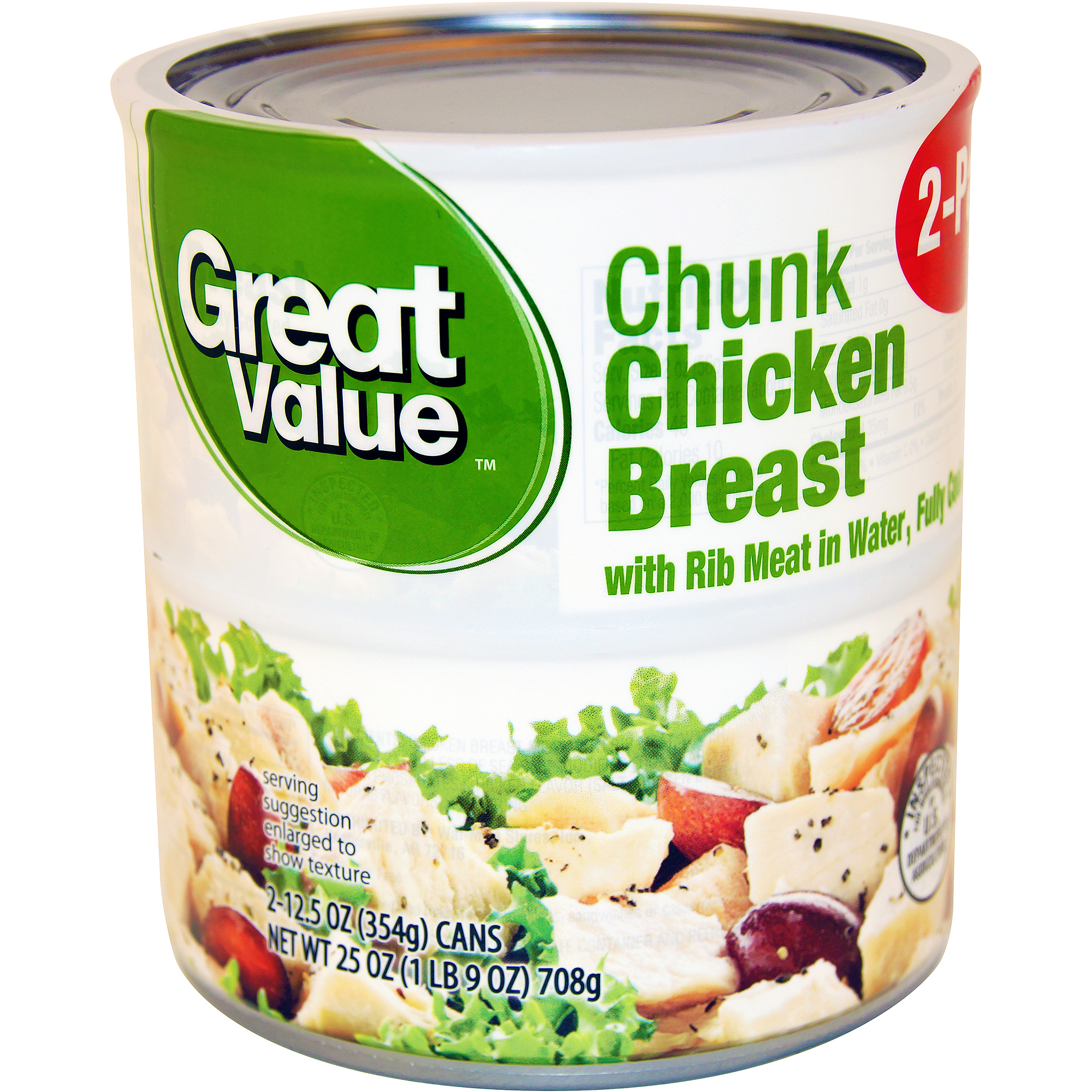 Great Value Chunk Chicken Breast, 12.5 oz, 2 count