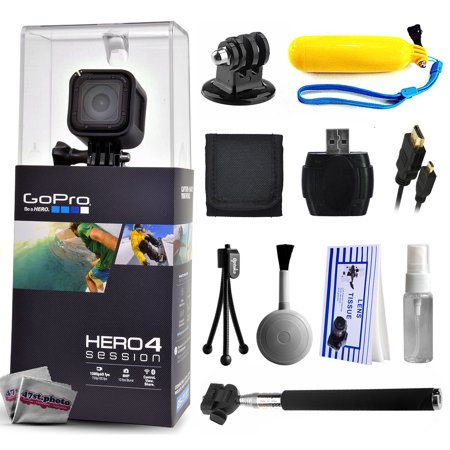 gopro hero 4 hero4 session chdhs 101 with floaty bobber selfie stick hdmi cable microsd. Black Bedroom Furniture Sets. Home Design Ideas