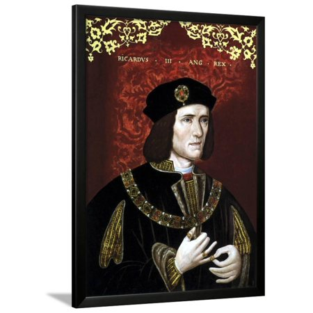 Vintage Portrait of King Richard Iii of England Framed Print Wall Art By Stocktrek Images
