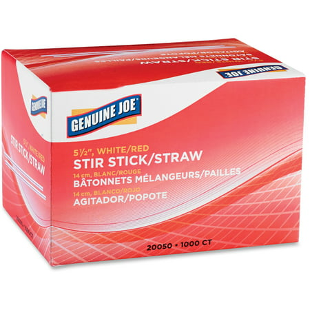 Genuine Joe Stir Sticks, White, 5.50