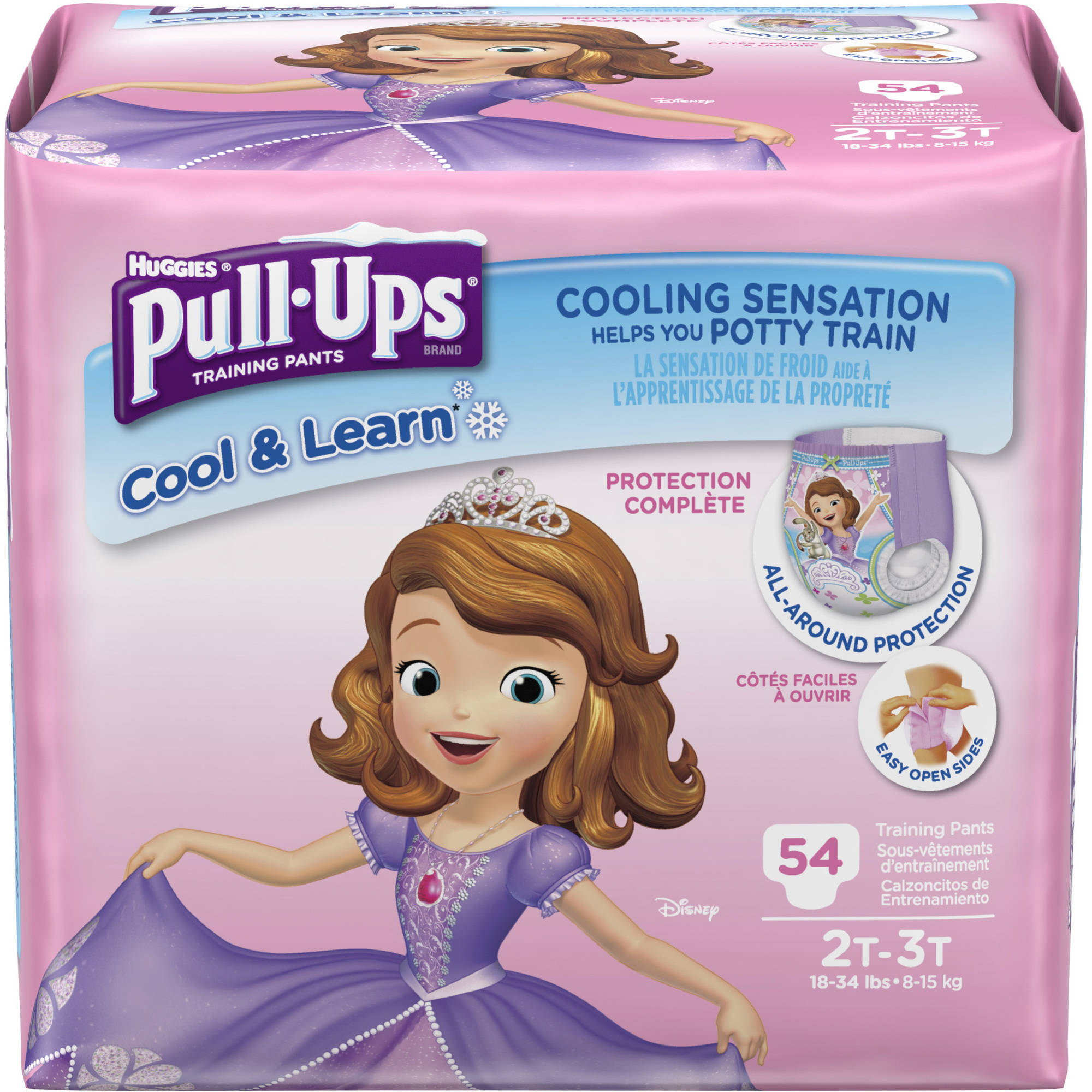 HUGGIES Pull-Ups Girls' Cool & Learn Training Pants, Big Pak, (Choose Your Size)