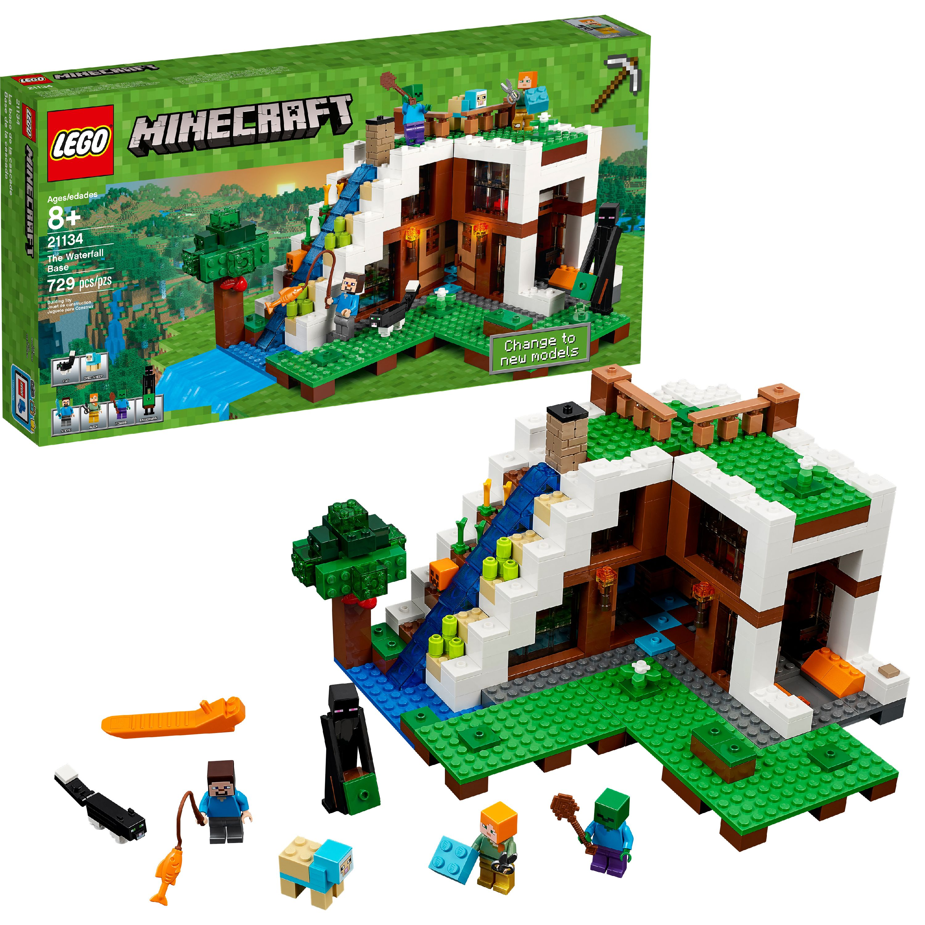 LEGO Minecraft The Waterfall Base 21134 (729 Pieces)