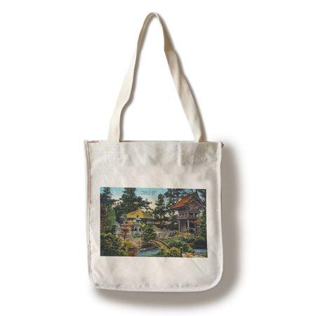 Tea Garden Golden Gate Park - San Francisco, California - Golden Gate Park Japanese Tea Garden (100% Cotton Tote Bag - Reusable)