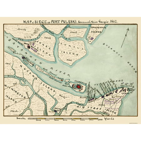 Siege Fort ski Savannah River Georgia - Sneden 1862 - 30.25 x 23 on chattooga river, tybee island, appalachian mountains map, mississippi river, ohio river map, altamaha river, chesapeake bay, oconee river, st. lawrence river map, mohawk river map, hudson river map, altamaha river map, susquehanna river map, mississippi river map, cumberland plateau, tugaloo river, wabash river map, york river map, great plains map, cape fear river map, santee river, chattahoochee river, potomac river map, chattahoochee river map, ocmulgee river, augusta canal, saint lawrence river, delaware river, green mountains, little river, suwannee river map, pee dee river, james river map, santee river map, roanoke river map, boston map, coosa river, flint river,