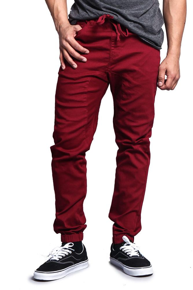 G-Style USA Mens Drop Crotch Jogger Twill Pants JG804 - BLACK - 5X-Large