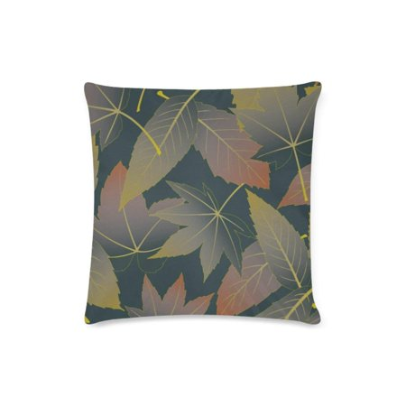RYLABLUE Maple Leaves Throw Pillow Case Pillow Cover Home Sofa Decor 16x16 inches - image 1 of 1