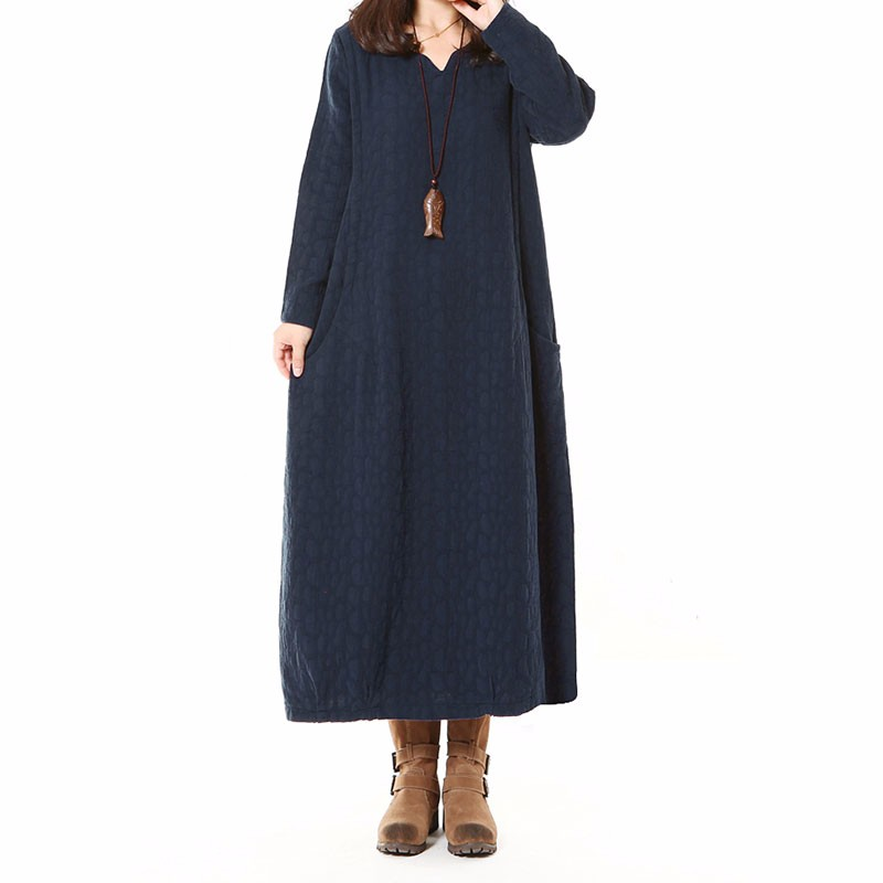 ZANZEA Women Cotton Linen Long Sleeve Casual Loose Maxi D...
