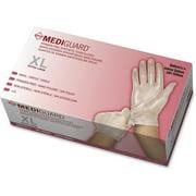 Medline, MII6MSV514, MediGuard Vinyl Non-sterile Exam Gloves, 130 / Box, Clear