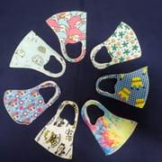 5 PK Kids Reusable Face Masks Washable Polyester Blend Mask Covering For Children Ages 3-10