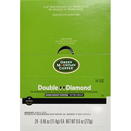 Green Mountain 48 Ct K Cups Double Black Diamond Blend - Blacklight Cups