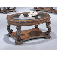 Coaster Furniture Oval Glass Top Coffee Table -