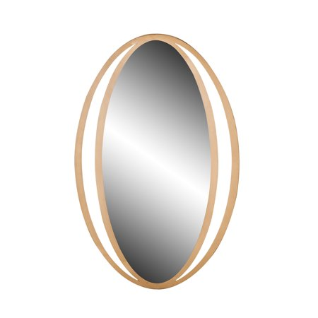 Decmode Contemporary 39 X 26 Inch Gold Metal Framed Wall Mirror ()