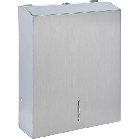 Genuine Joe, GJO02198, C-Fold/Multi-fold Towel Dispenser Cabinet, 1 / Each, Silver