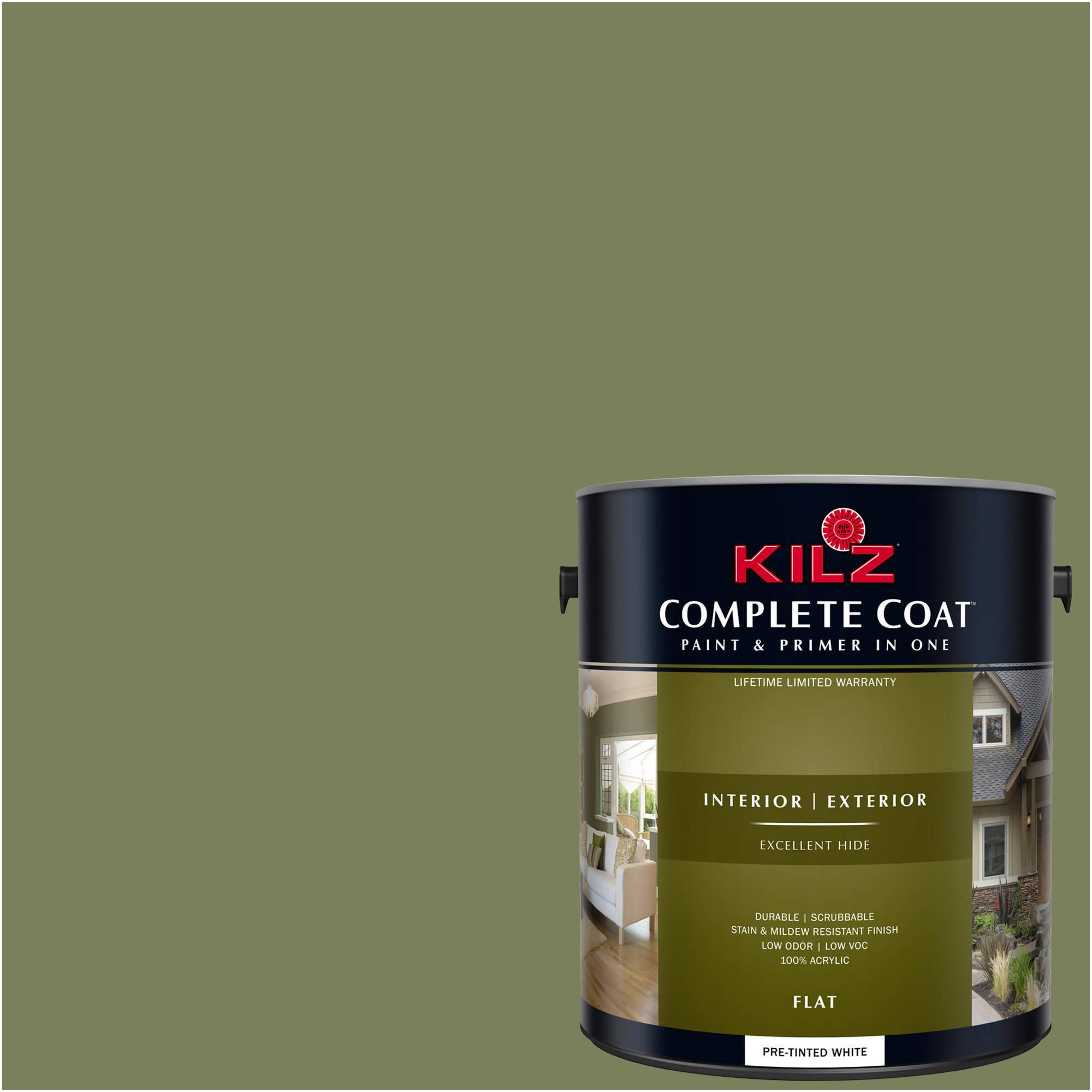 KILZ COMPLETE COAT Interior/Exterior Paint & Primer in One #LG120-02 Cavern Moss