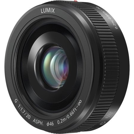 (Panasonic Lumix G H-H020AK 20mm F/1.7 II ASPH Fixed Lens for Panasonic/Olympus Micro Four Thirds Cameras (Black))