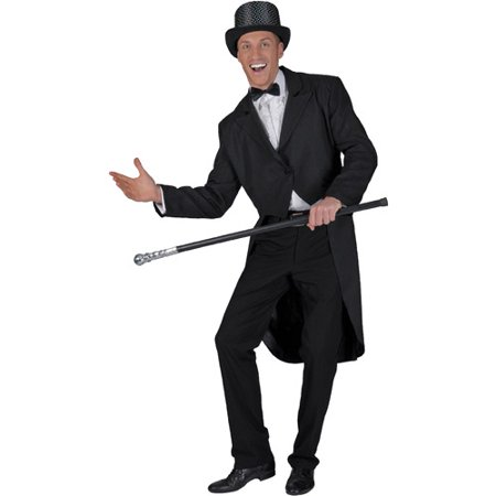 Black Adult Halloween Tailcoat Costume - One Size - Costume Online Australia