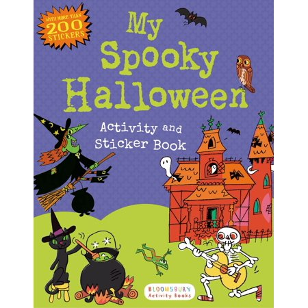 My Spooky Halloween Activity and Sticker Book - Preschool Halloween Art Activities