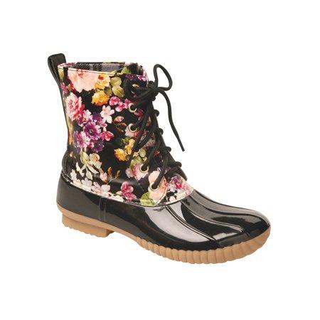 Women's Rosetta Floral Mid-Calf Duck Rain Boots ()
