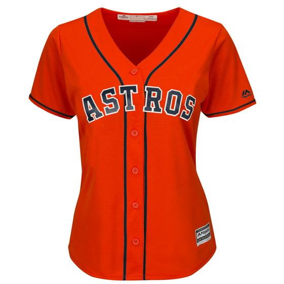 size 40 37406 c8db1 Houston Astros Women's Alternate Plus Size Cool Base Team Jersey - Orange