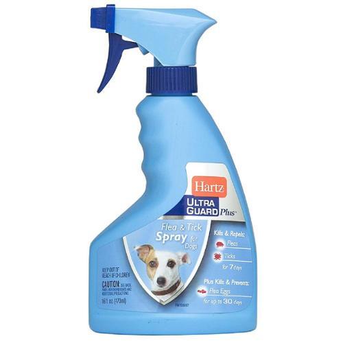 Hartz UltraGuard Plus Flea & Tick Spray for Dogs 16 oz (Pack of 2)