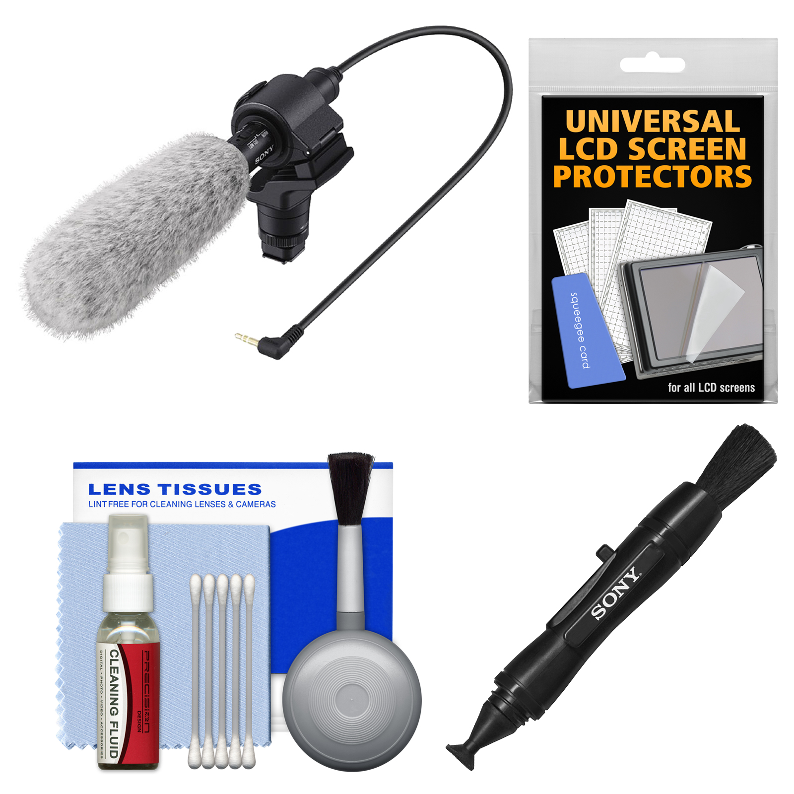 Sony ECM-CG60 Shotgun Microphone with LCD + Cleaning Kit