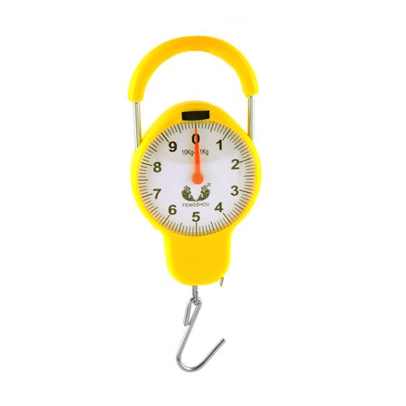Spring Balance Scale - Household Portable Scale Measuring Tape Spring Balance Yellow 10KG Capacity