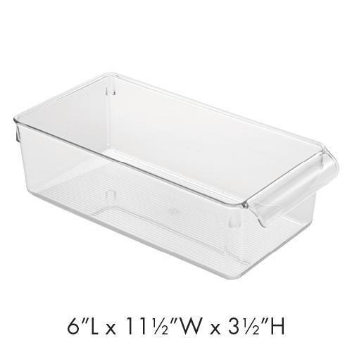 interdesign clear plastic bathroom drawer organizer 6 x 11 5 x 3 5 rh walmart com Drawer Organizer Walmart Clotches Walmart Storage Organizer