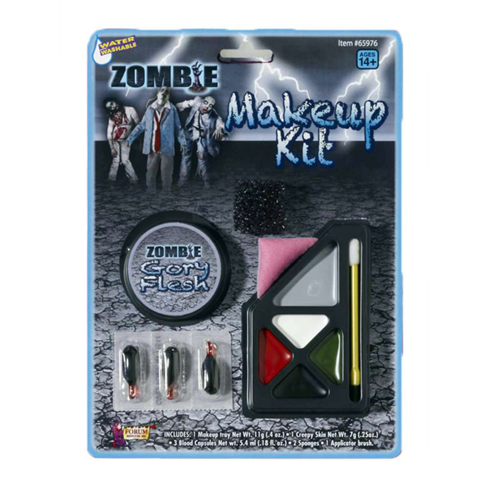 Deluxe Zombie Flesh Colors Costume Accessory Makeup Kit