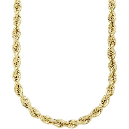 Simply Gold 10Kt Yellow Gold 4 9Mm Rope Chain Necklace  22