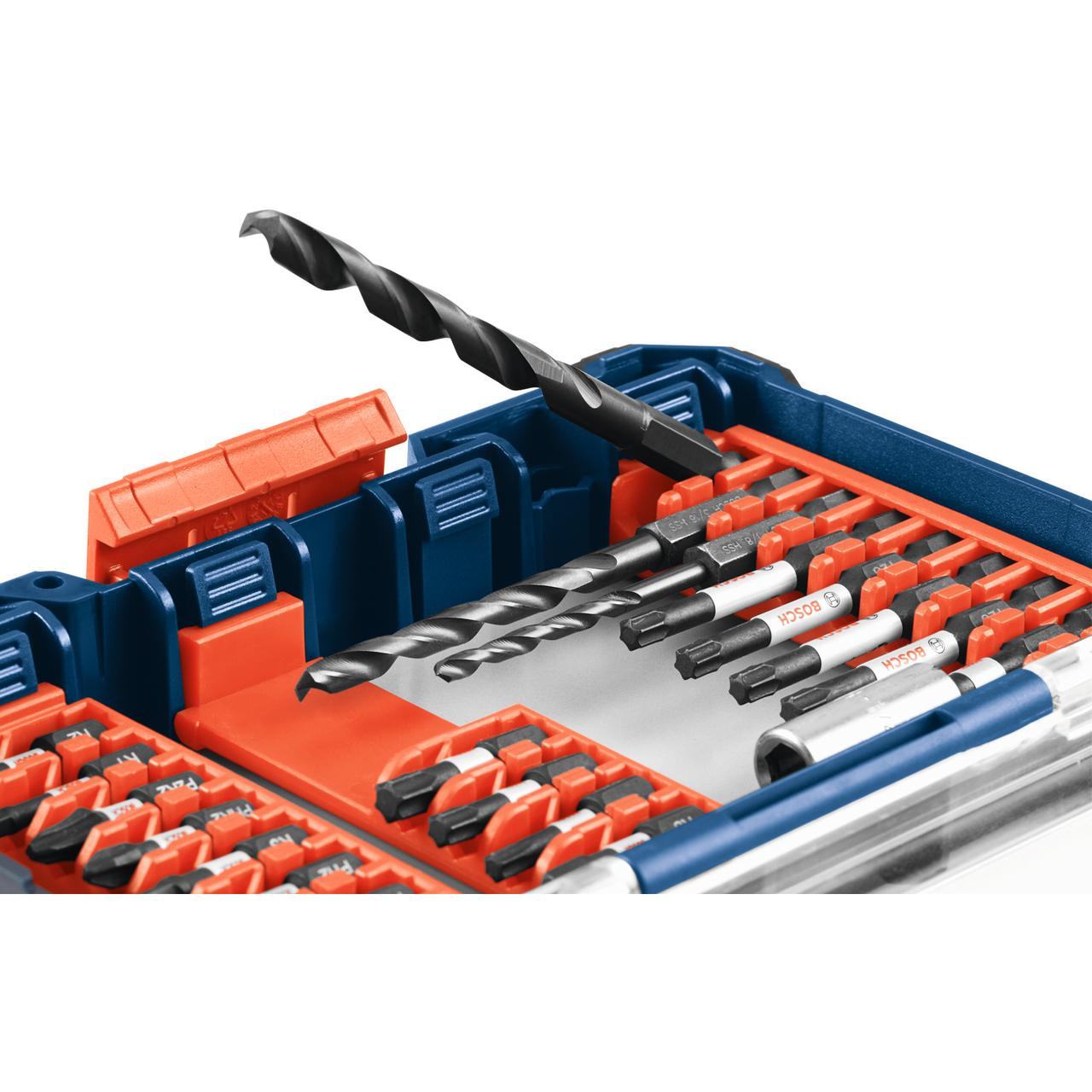bosch ddms40 40-piece impact tough drill/drive custom case set
