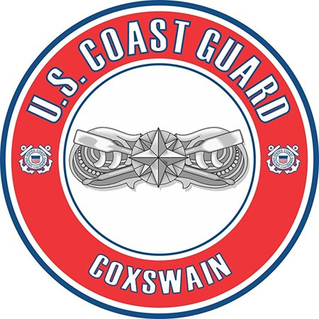 - US Coast Guard Coxswain Badge 10 Inch Decal