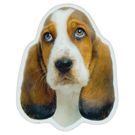 Magnetic Bumper Sticker - Basset Hound Dog Breed Picture Magnet - Cars, Trucks, SUVs, Etc.