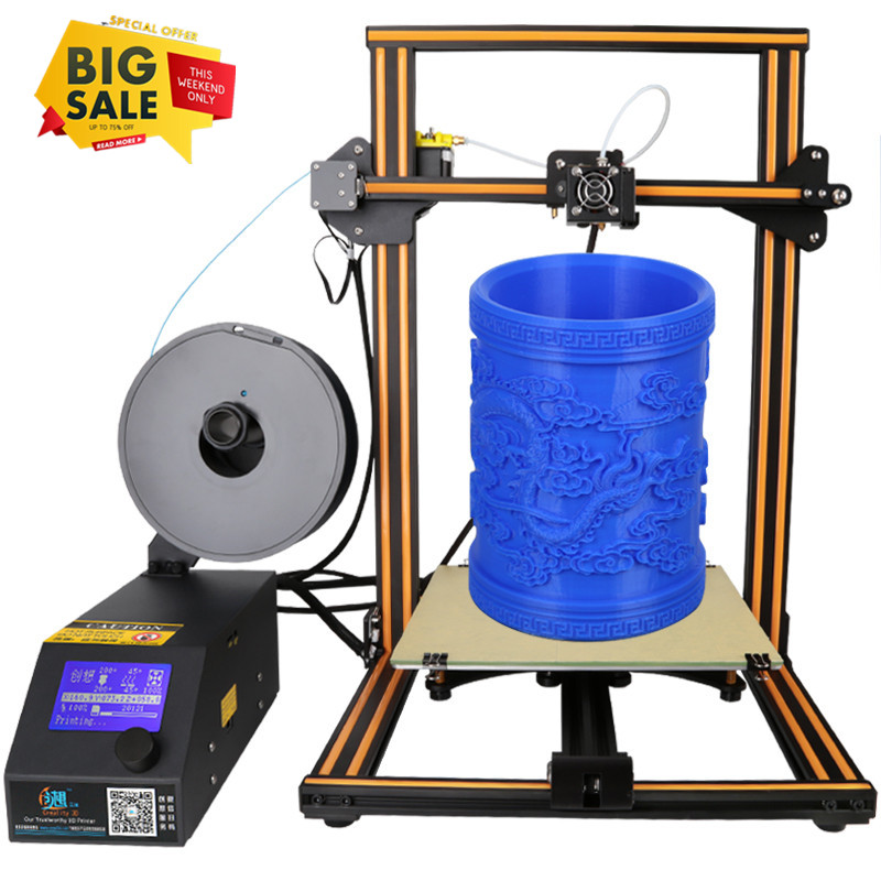 3D Printer Creality CR-10S Large Printing Size 300x300x400mm 1.75mm 0.4mm Nozzle DIY Self-Assembly Desktop 3D Printer Kits Filament Monitor and Dual Z Axis