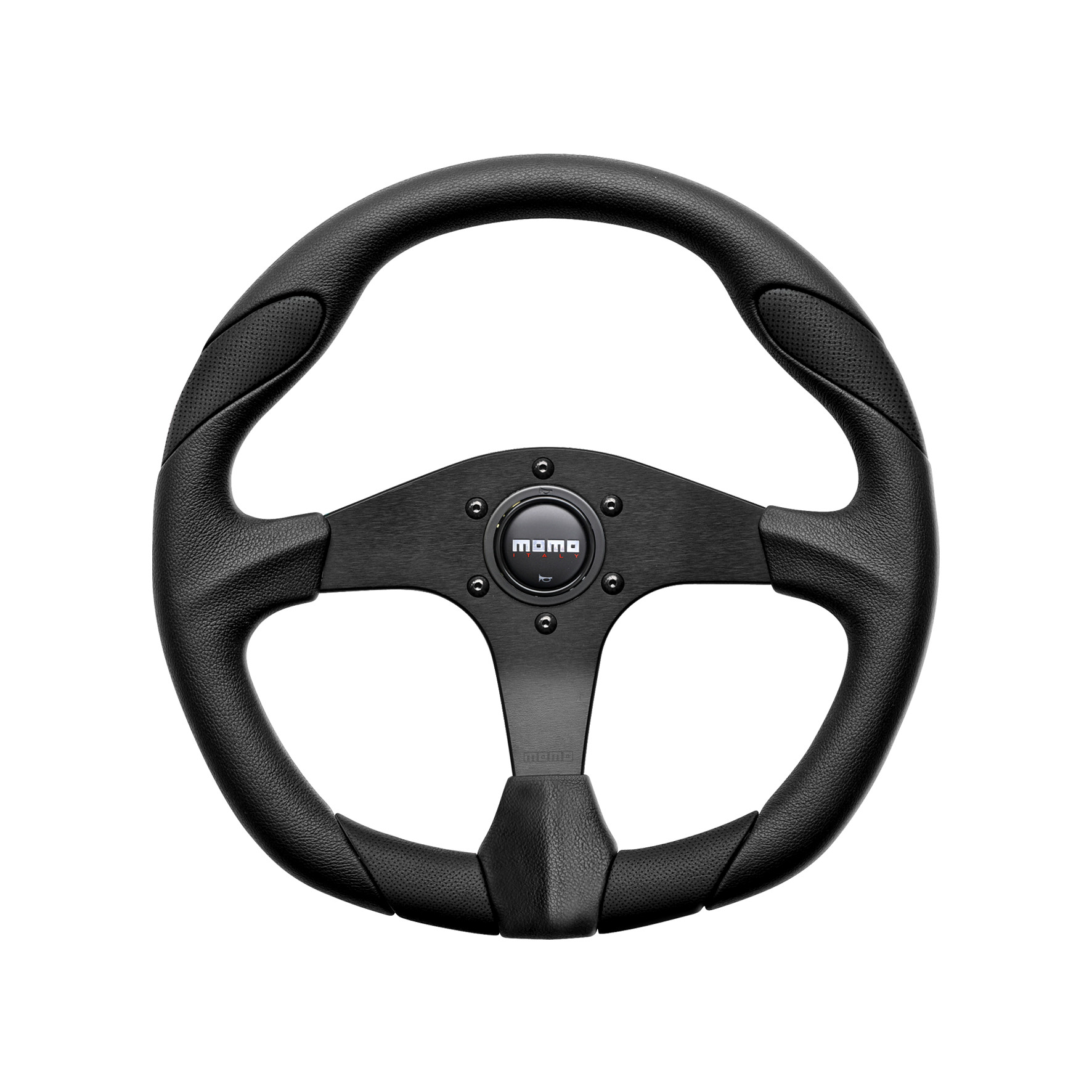 MOMO Steering Wheel Quark Black / Black Leather 350mm