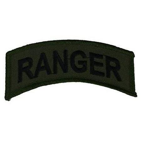 US ARMY RANGER ROCKER TAB PATCH OD GREEN BLACK TAN BERETS LEAD THE WAY