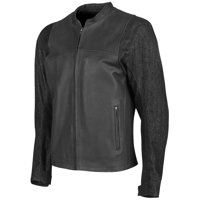 Speed & Strength Ground and Pount Leather/Denim Jacket (Black, Large)