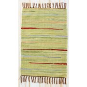 CLM Canyon Green Stripe Area Rug