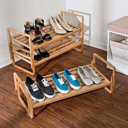 Honey Can Do 3-Tier Nesting Bamboo Shoe Rack
