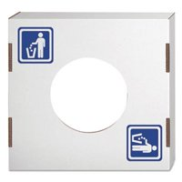 Bankers Box Recycling Bin Lid, General Waste, White, 10 Lids