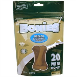 BONIES Natural Dental Formula Multi-Pack Mini, 20 Bones/7 oz