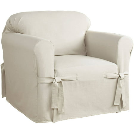 Serta Relaxed Fit Cotton Duck Furniture Slipcover, Chair 1-Piece Box