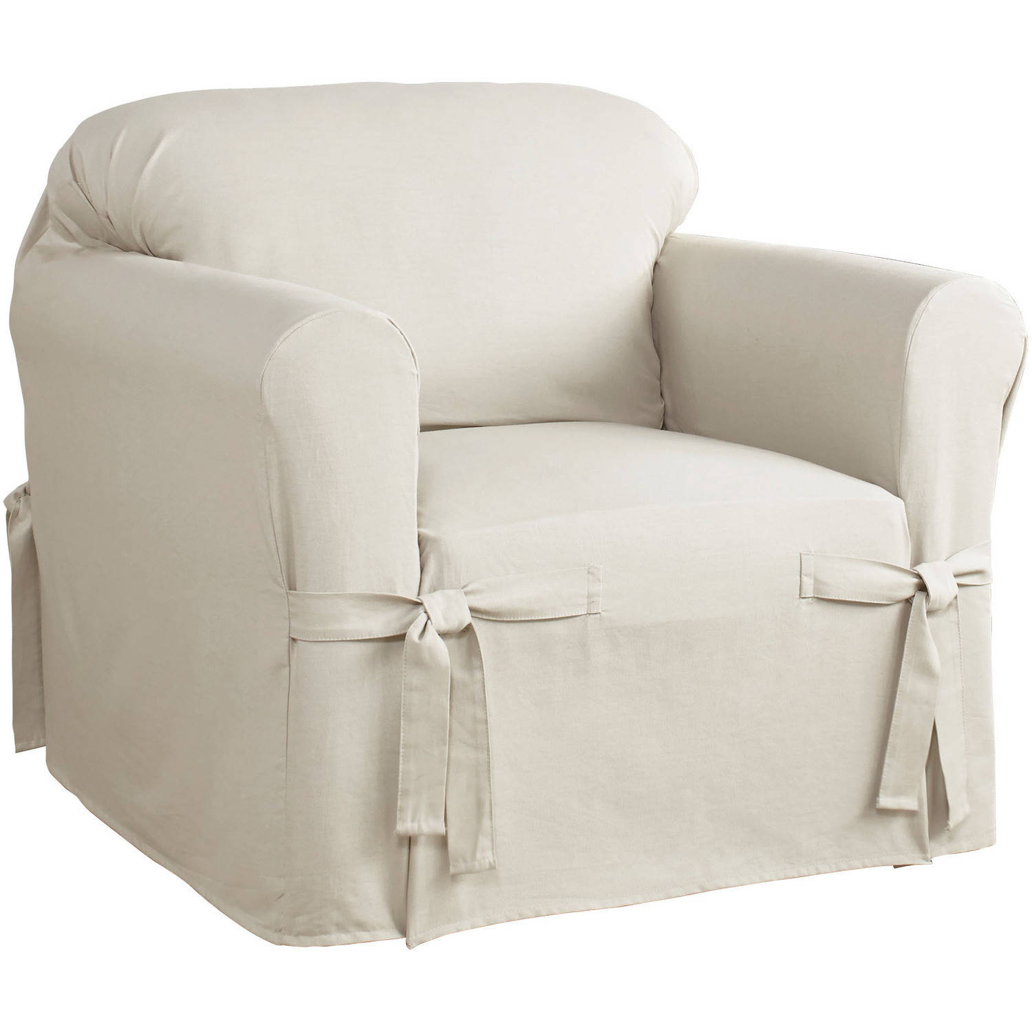 Serta Relaxed Fit Cotton Duck Furniture Slipcover, Chair 1 Piece Box Cushion