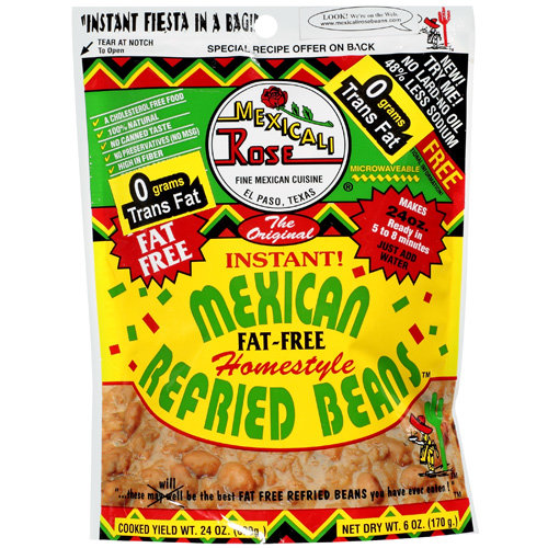 Mexicali Rose Fat Free Refried Beans The Original World's Greatest Instant Home Style, 6 oz