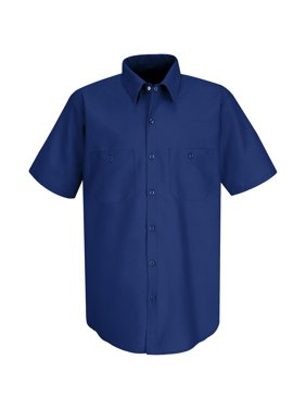 Red Kap Men's Short Sleeve Industrial Work Shirt