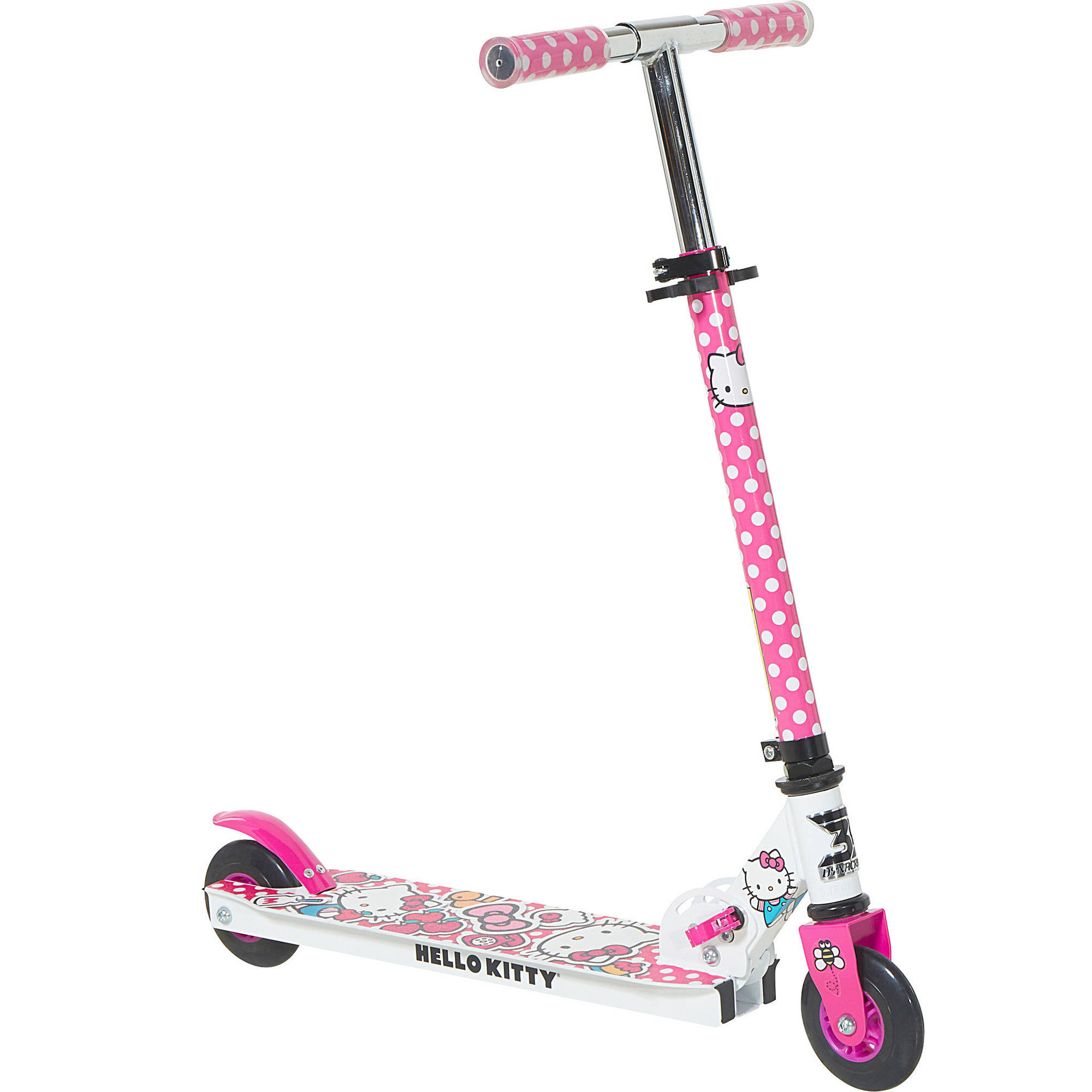 "4"" Girls' 2 Wheel Hello Kitty Folding Scooter by Dynacraft"